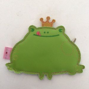 FLUFF FROG PRINCE COIN PURSE NWT